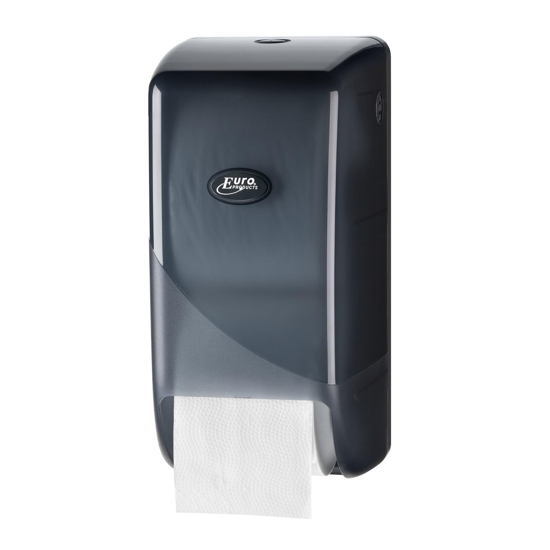 Pearl BLACK duo toiletrol dispenser t.b.v. doppenrollen