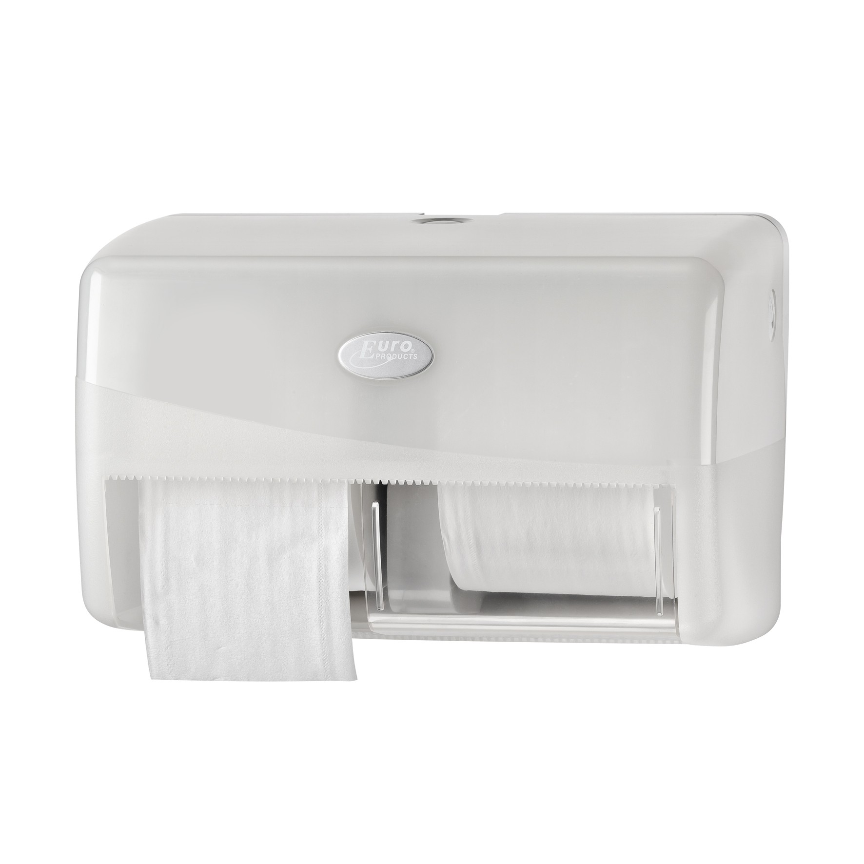 Pearl WHITE duo toiletrolhouder t.b.v. coreless toiletrollen