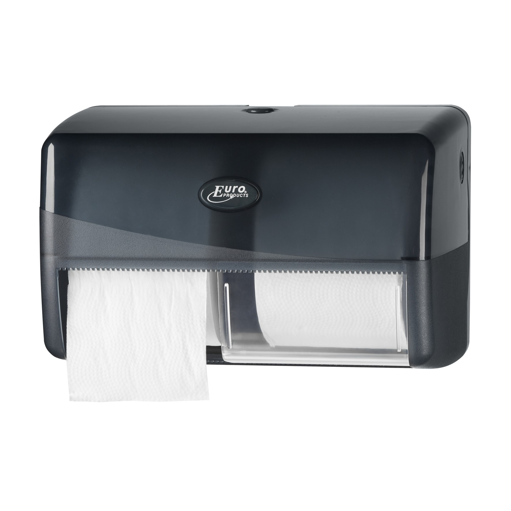 Pearl BLACK duo toiletrol dispenser t.b.v. coreless toiletrollen