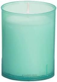 Bolsius refills 24 h., kleur; zeegroen, inhoud verpakking 80 st.