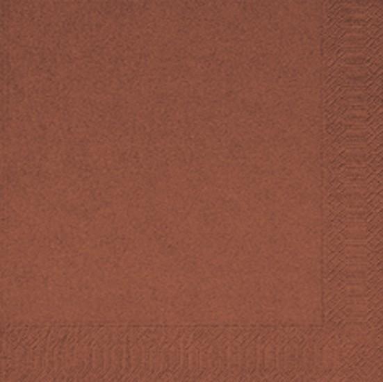 Servetten 40 x 40 cm 2-laags 1/4 vouw kleur: bruin, inhoud verpakking 2000 st.