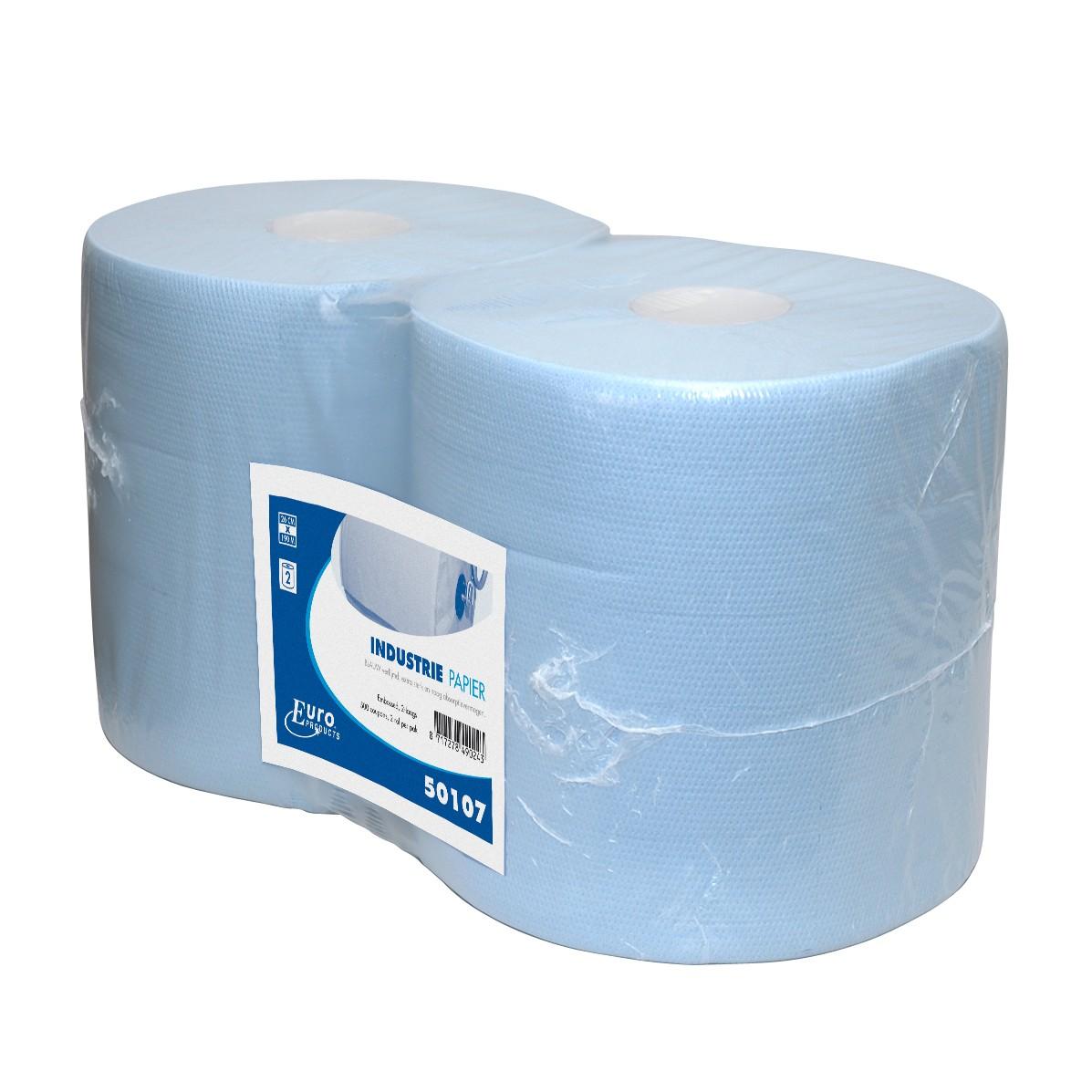 Poetsrol 190 m. x 26 cm. 2-laags blauw, inhoud 2 rollen