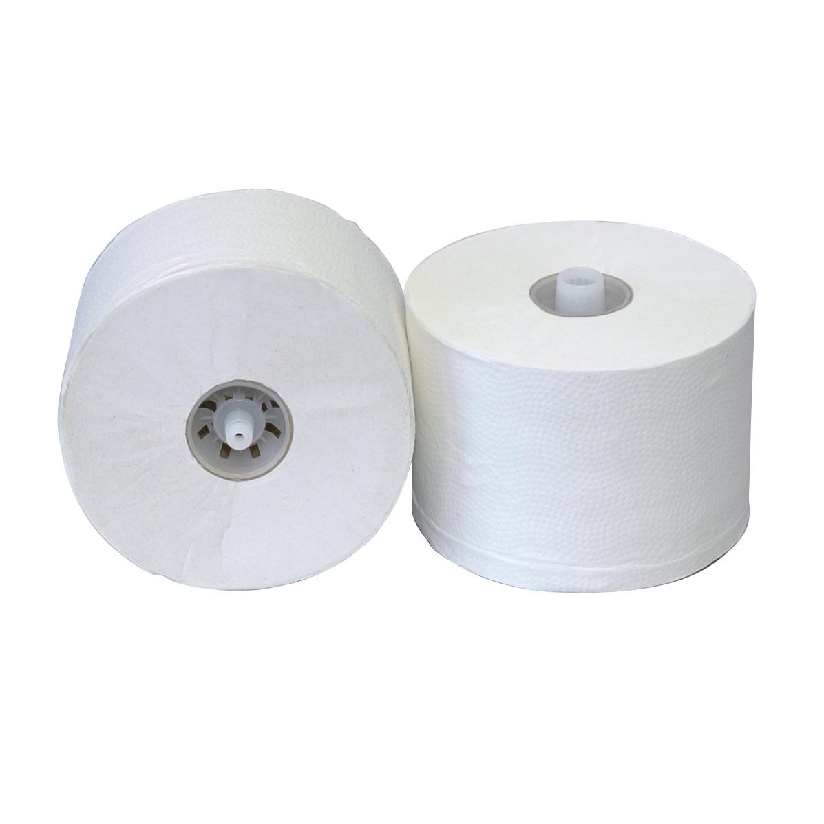 Toiletpapier met dop 150 meter 1-laags rec. tissue, inhoud 36 rollen ECO/FSC