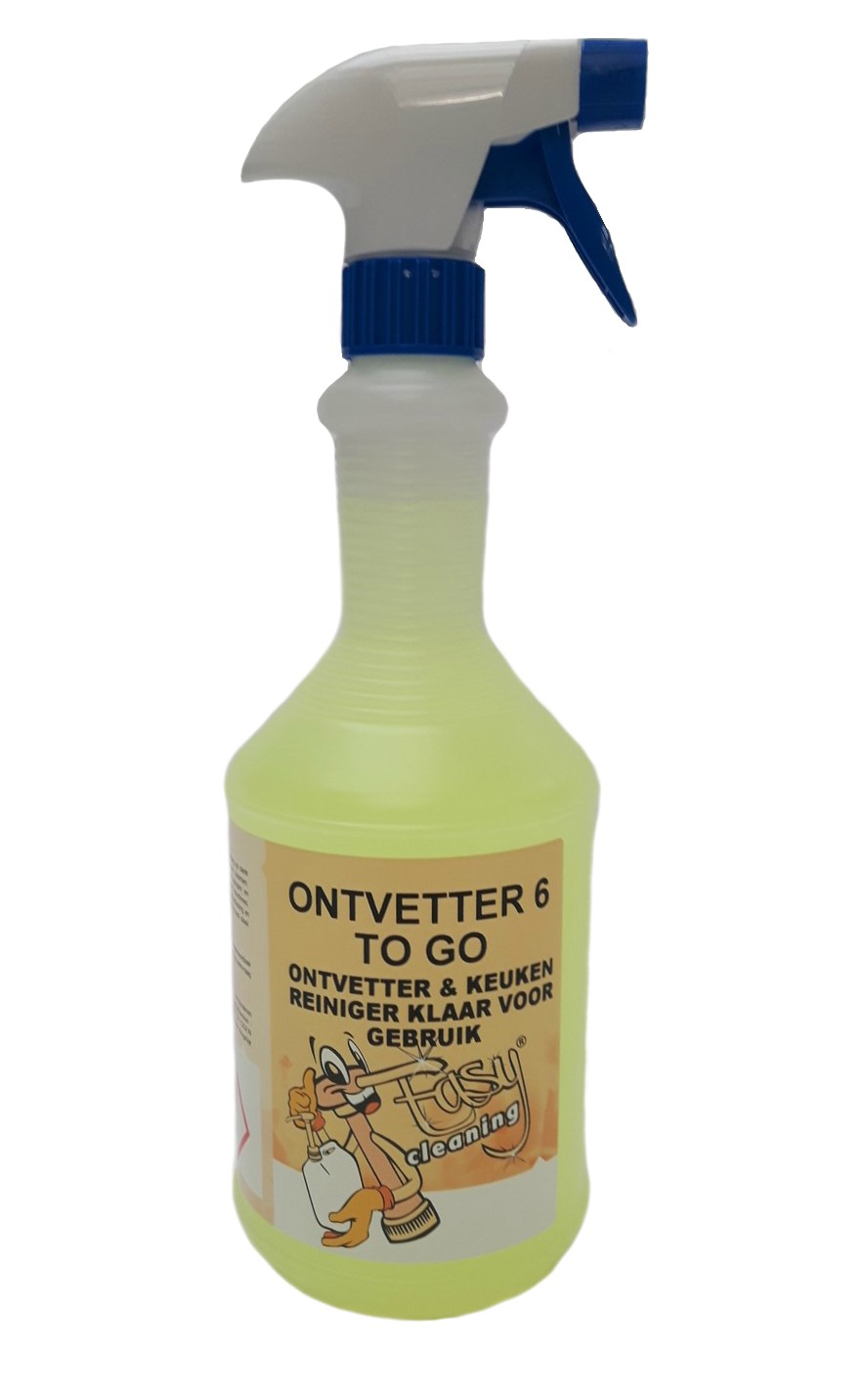 Easy Cleaning nr 6+ ontvetter/ keukenreiniger TO GO, 1 liter