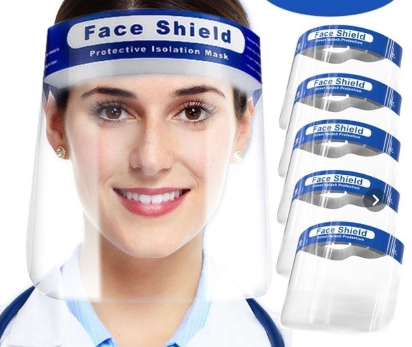 Face shields met hoofdband