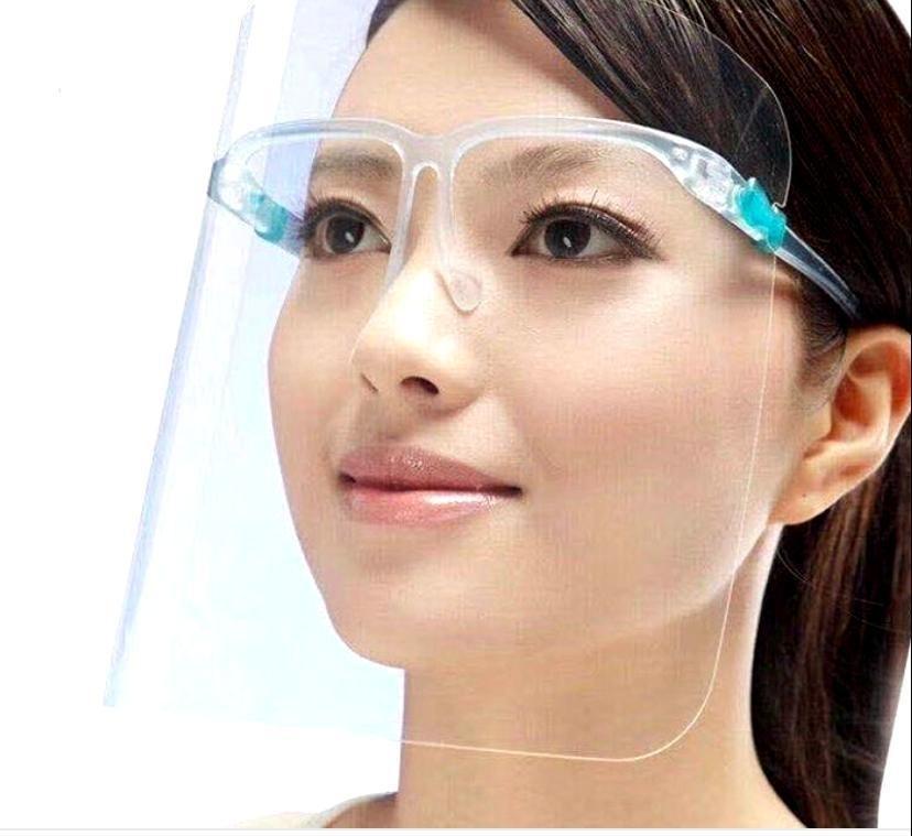 Face shields met bril