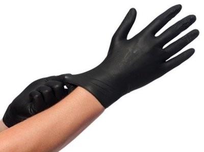 Nitril handschoenen CMT ongepoerd zwart