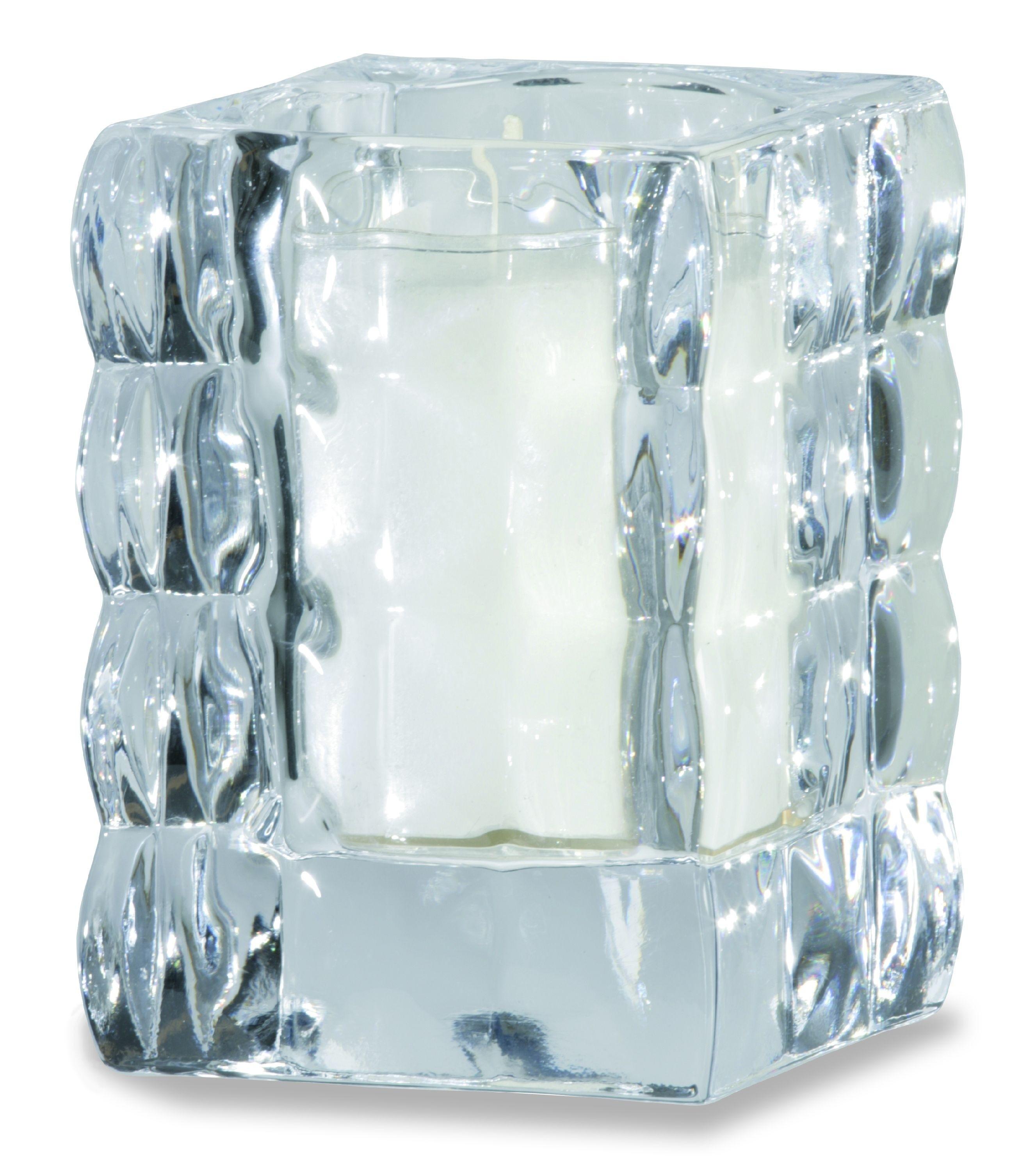 Bolsius refill houder glas Cube