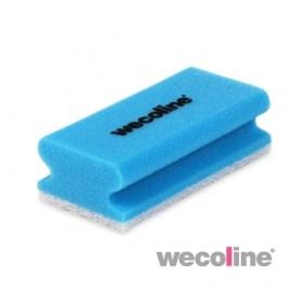 Schuurspons blauw/wit, 10 stuks