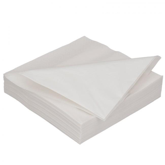 Duni servet 40 x 40 cm 1/8 vouw  WIT inhoud 1200 stuks