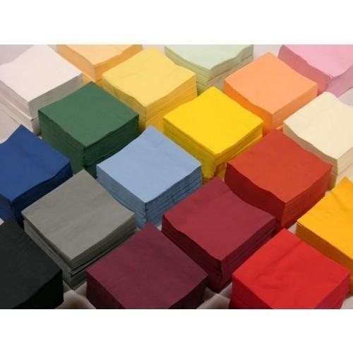 Duni servetten Uni 40 x 40 cm 1/8 vouw, 2-laags  diverse kleuren 4 x 300 st
