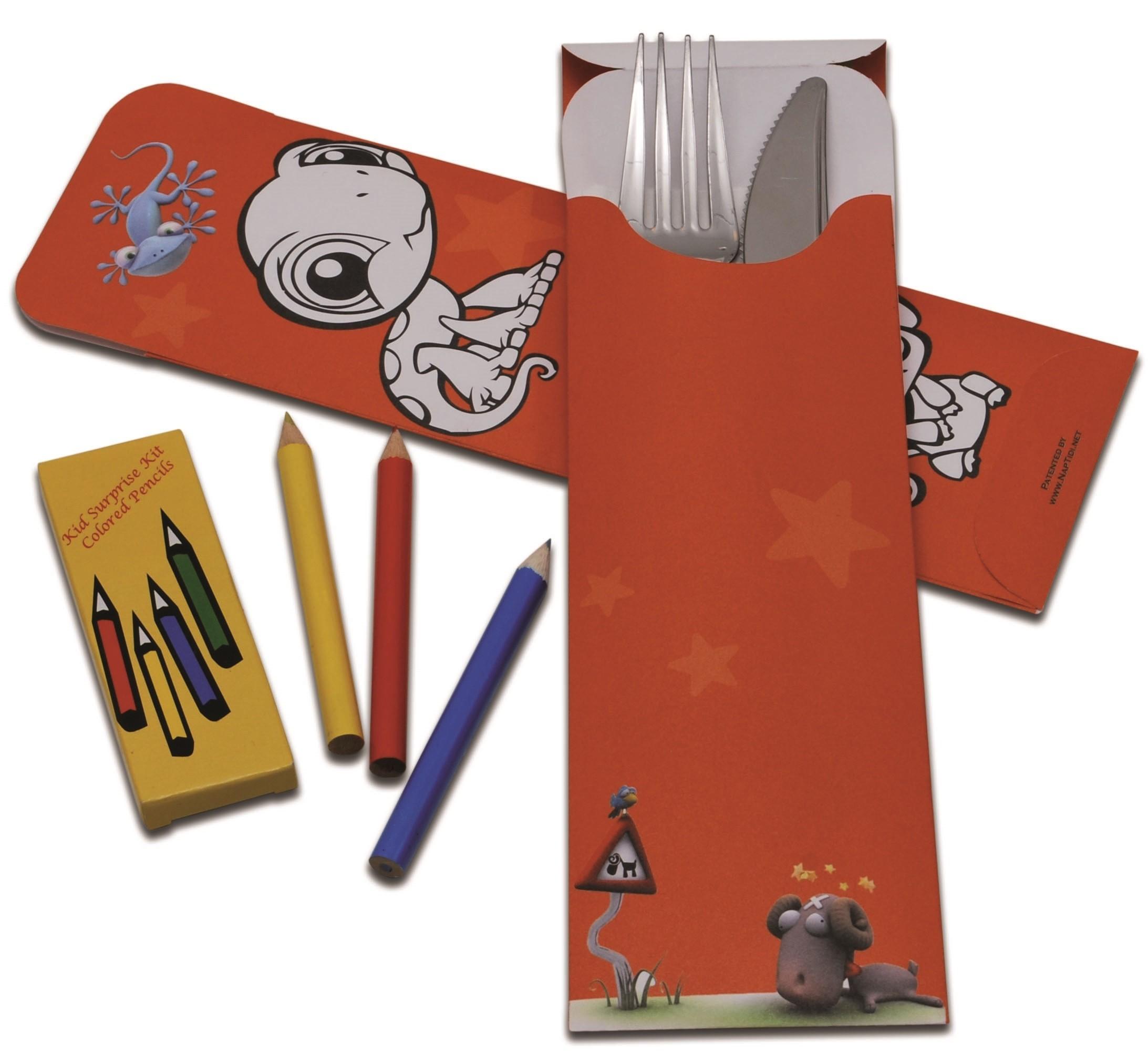 Bestekzakjes bambini rood, inhoud verpakking 600 stuks