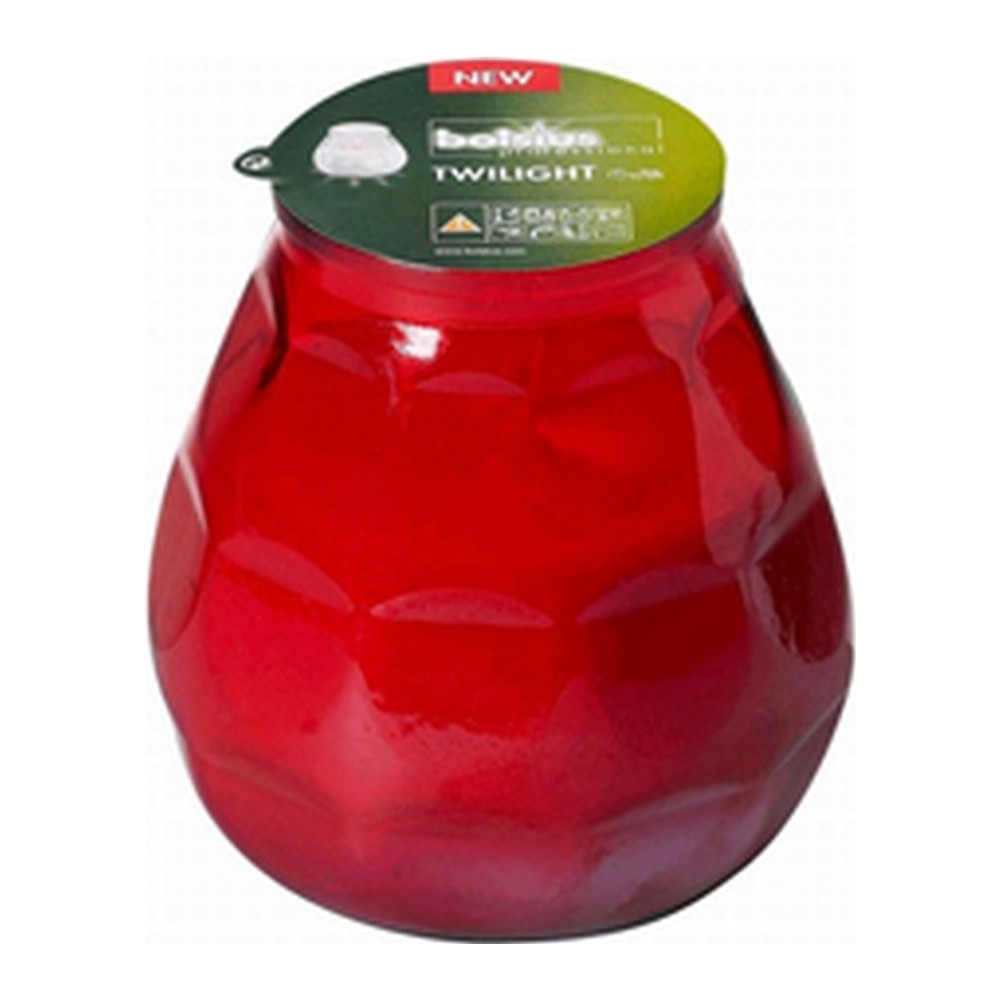 Bolsius terras verlichting type Twilight, kleur rood, inhoud verpakking 12 st.