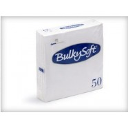 Servetten Bulkysoft 50 x 50 cm  WIT,  inhoud 900 stuks