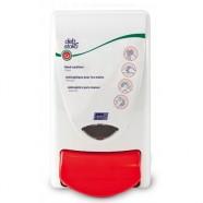 Zeepdispenser Deb handdesinfectie 1 liter met rode drukknop