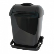 Pearl dameshygiënebox 8 liter wand, zwart