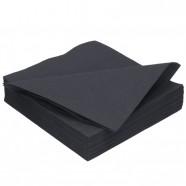 Duni servet DunLin zwart; 40 x 48 cm, inhoud verpakking 200 stuks