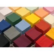 Duni servetten 24 x 24 cm 2-laags, diverse kleuren