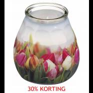 Kaars Twilight tulpen terras licht, verpakking a 12 st.